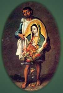 Juan Diego abriendo la tilma por Jose de Ibarra 1743