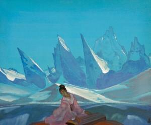 Kuan Yin 1933 by Nicholas Roerich