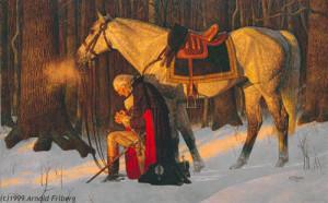 George Washington orando