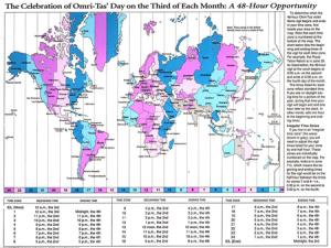 mapa de las zonas de tiempo