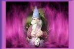 gnomo en la llama violeta