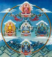Cinco  Budas Dhyani