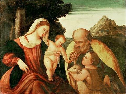 Holy Family with San Juan por Paolo Veronese-480