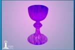 Caliz de llama violeta