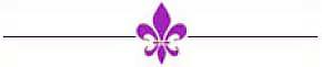 violet fleur de lis