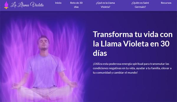 La llama violeta en 30 dias