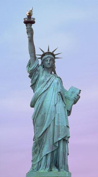 estatua de la Diosa de la libertad