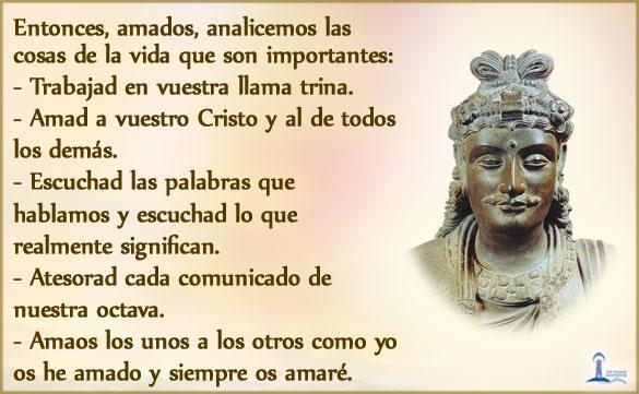 Maitreya - las cosas que son importantes